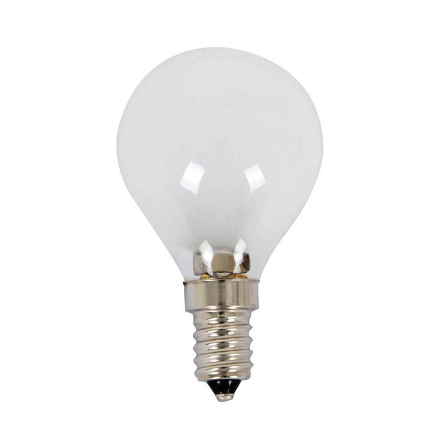 28w = 40w Small Edison Screw (SES) Frosted Fancy Round Energy Saving Halogen - Lighting Superstore