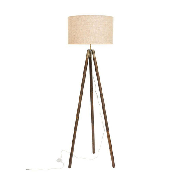 Prince Tripod Floor Lamp Timber
