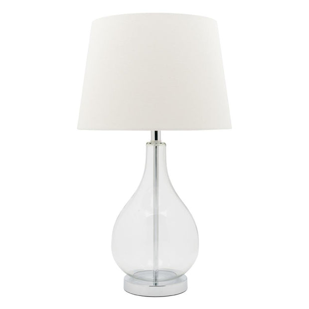 Gina Table Lamp with White Shade