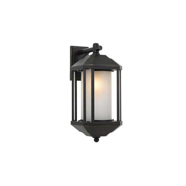 Havard Black Exterior Wall Light Large - Lighting Superstore