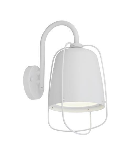 Hink2 Exterior Wall Light Caged White