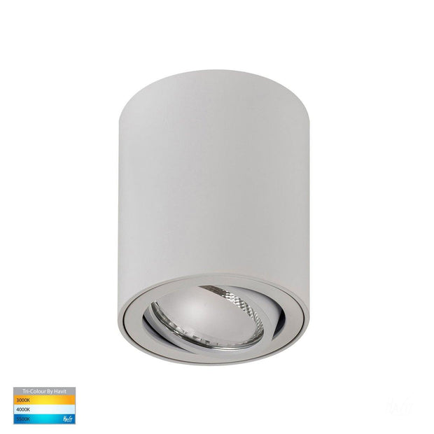 HV5812T-WHT - Nella 7w LED White Adjustable Surface Mounted Downlight
