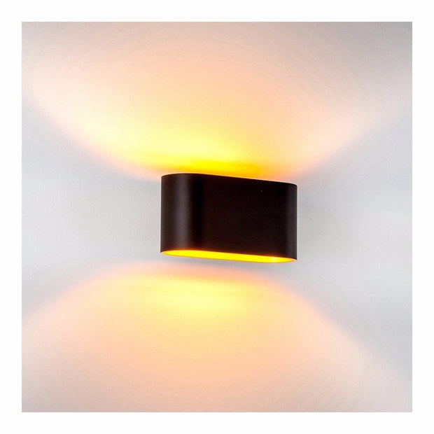 HV8028 Concept Black and Gold LED Wall Light