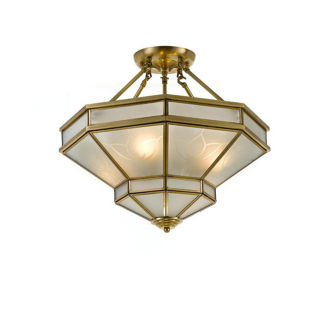 Howard Close-to-Ceiling Antique Bronze Light - Lighting Superstore