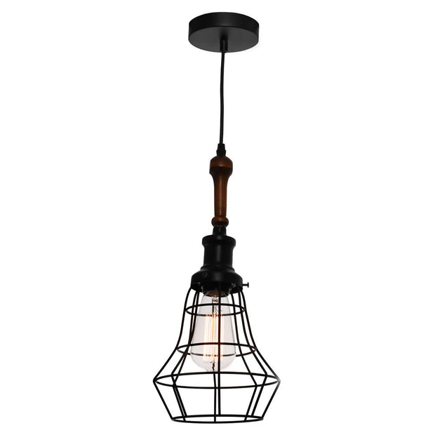 Lathe Cage Pendant Light