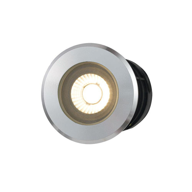 Luc 3w Inground/Deck Light Aluminium Warm White - Lighting Superstore
