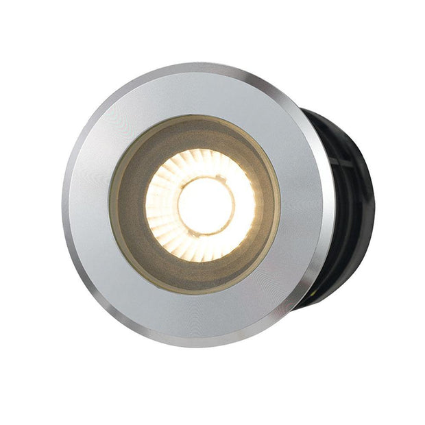 Luc 5w Inground/Deck Light Aluminium Warm White - Lighting Superstore