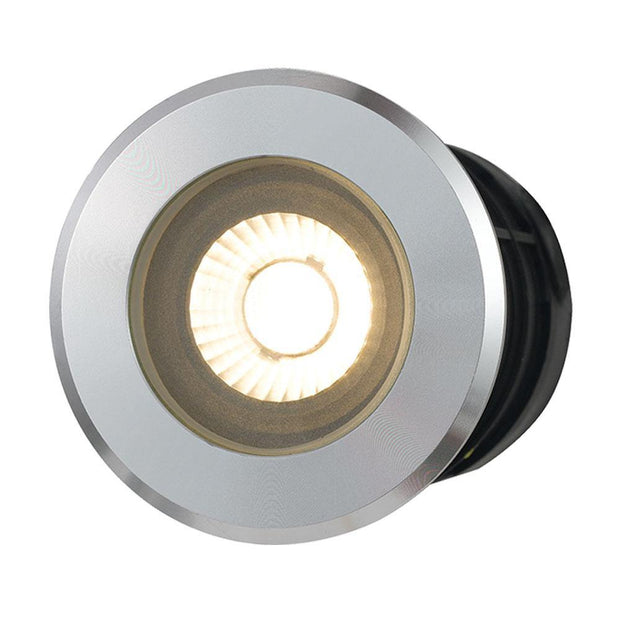 Luc 8w Inground/Deck Light Aluminium Warm White - Lighting Superstore