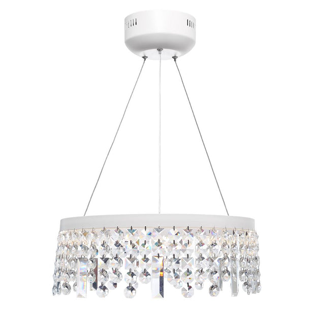 Majestic Crystal LED White Pendant - Small