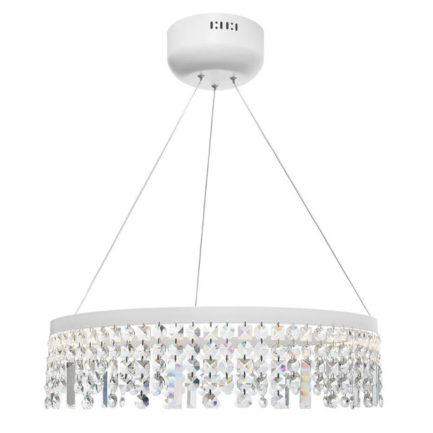 Majestic Crystal LED White Pendant - Large