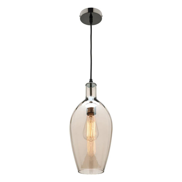 Belmont Pendant Light Cognac Glass - Lighting Superstore
