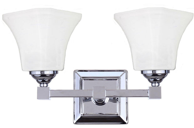 Monroe 2 Light Wall Bracket Chrome