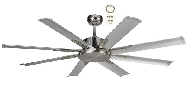 Albatross 65 DC Ceiling Fan Brushed Chrome - Lighting Superstore