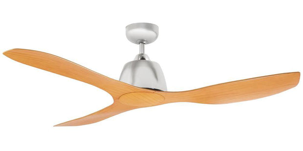 Elite 48 Ceiling Fan Nickel and Bamboo