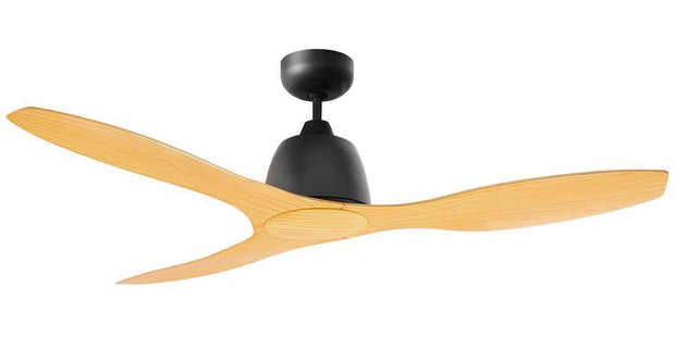 Elite 48 Ceiling Fan Black and Bamboo