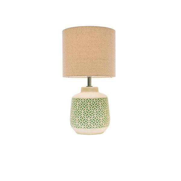 Natalia Table Lamp Cream and Teal