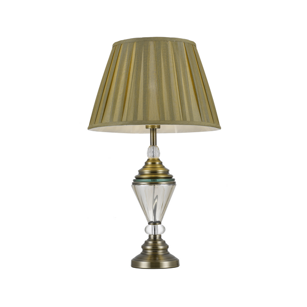 Oxford Table Lamp Antique Gold - Lighting Superstore