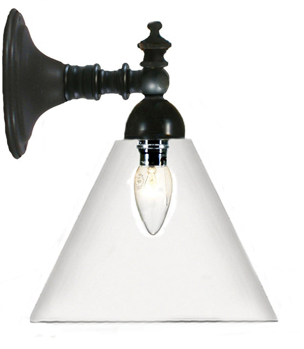 Koscina Wall Light Black Cone - Clear