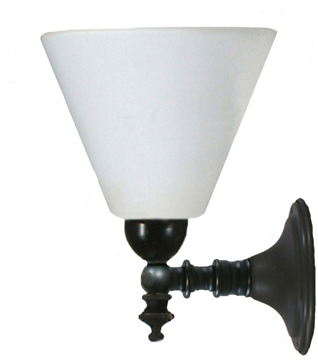 Koscina Wall Light Black Cone - Opal