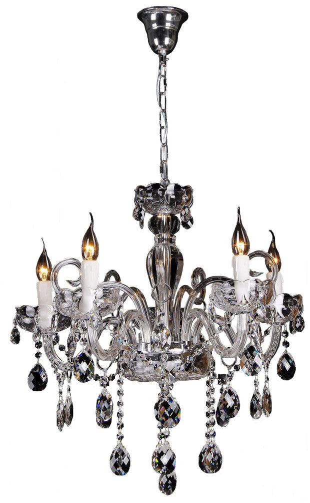 Prague 5 Light Crystal Chandelier - Lighting Superstore