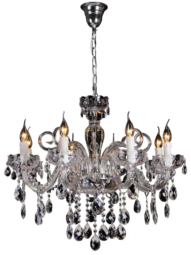 Prague 8 Light Crystal Chandelier - Lighting Superstore