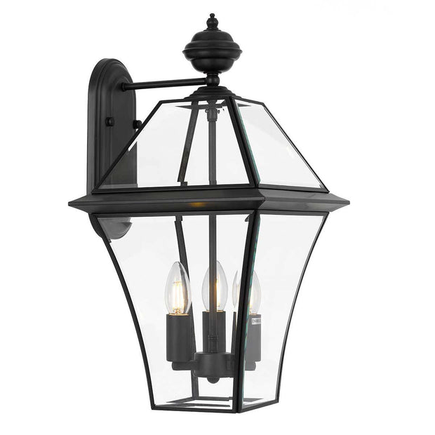 Rye Exterior Coach Light Black Large - Lighting Superstore