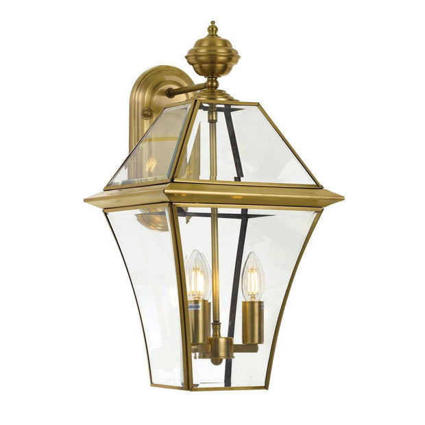 Rye Exterior Coach Light Brass Large - Lighting Superstore