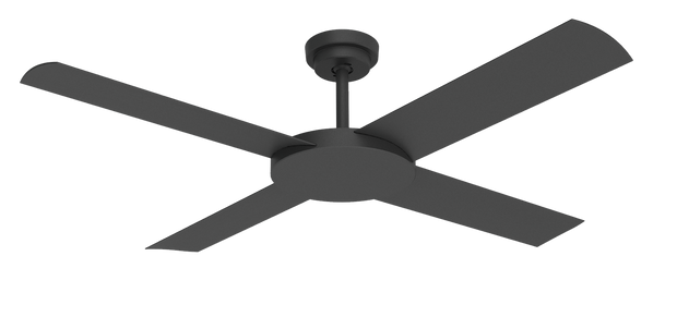 Revolution 3 52 Ceiling Fan Black
