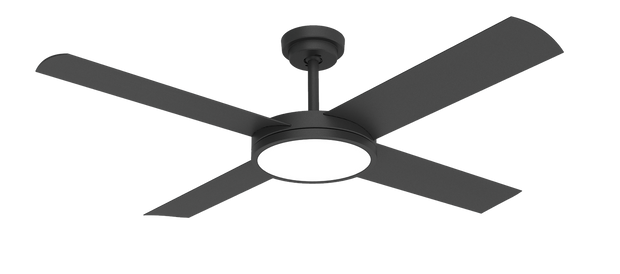 Revolution 3 52 Ceiling Fan Black - 24w LED Light