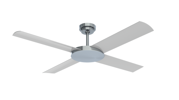 Revolution 3 52 Ceiling Fan Brushed Aluminium - Lighting Superstore