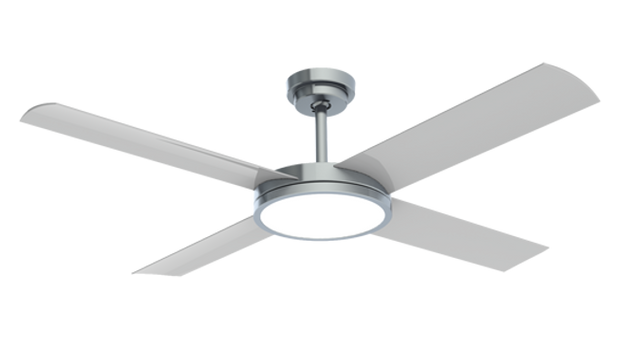 Revolution 3 52 Ceiling Fan Brushed Aluminium - 24w LED Light