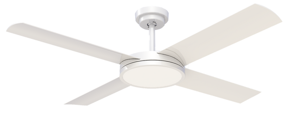 Revolution 3 52 Ceiling Fan White - 24w LED Light