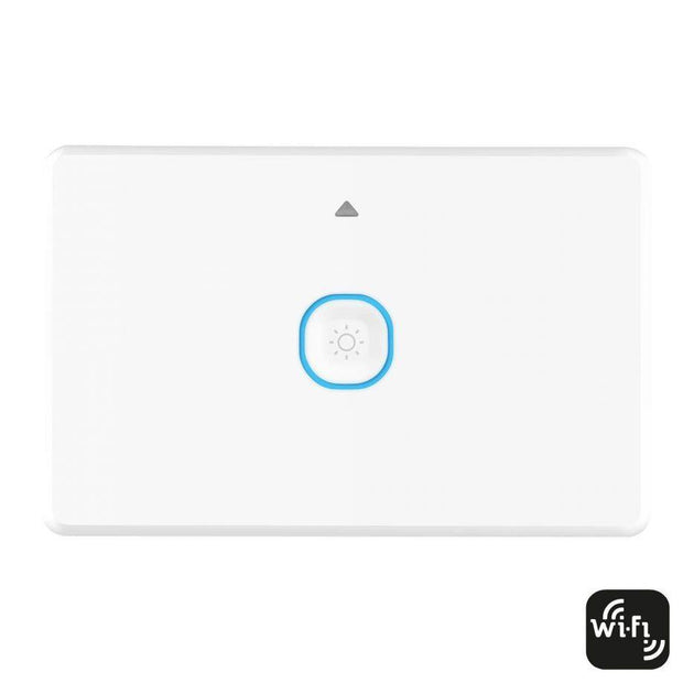 Smart 1 Gang Wall Switch with Dimmer White