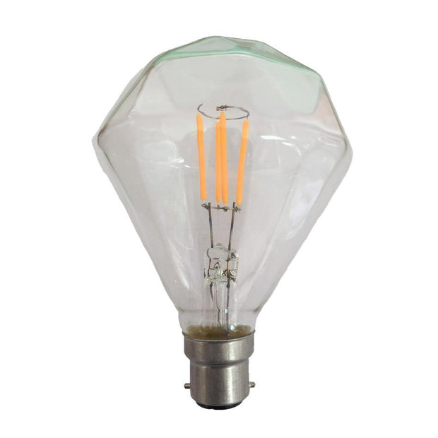 3.5w Bayonet (BC) Carbon Filament LED Diamond Warm White - Lighting Superstore