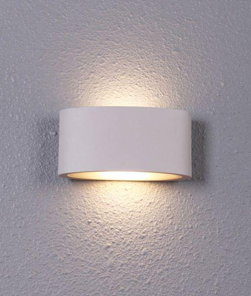 Tama2 Exterior LED Wall Light White