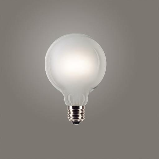 4w Edison Screw (ES) LED Carbon Filament G95 Frost - Lighting Superstore