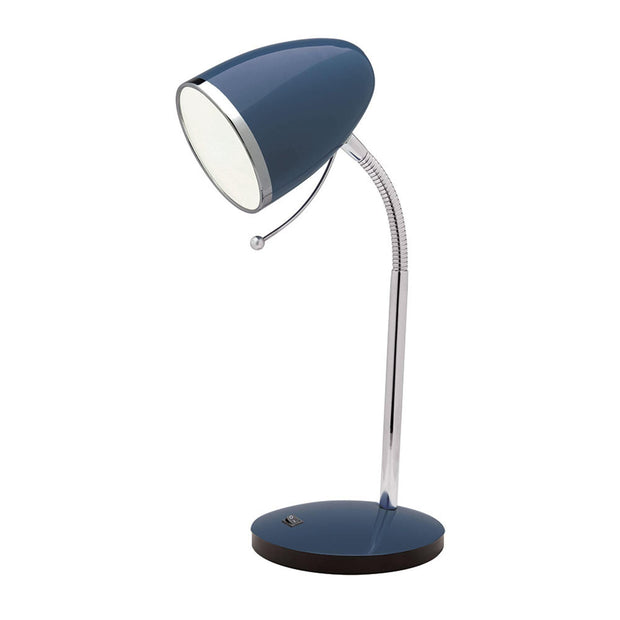 Sara Desk Lamp with USB Port - Navy - Lighting Superstore