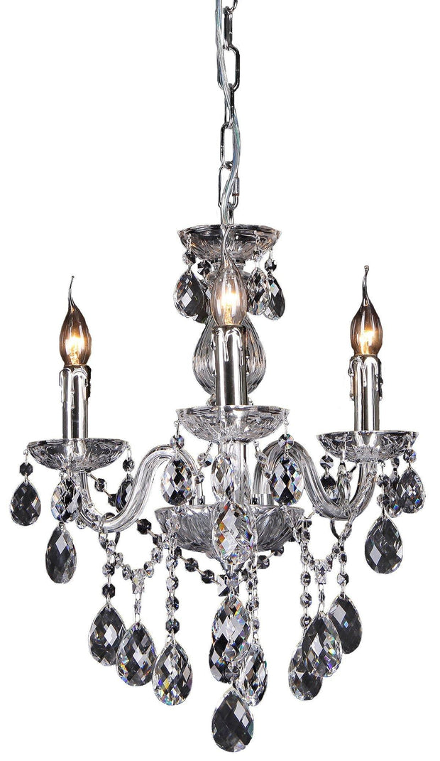 Venice 3 Light Crystal Chandelier - Lighting Superstore