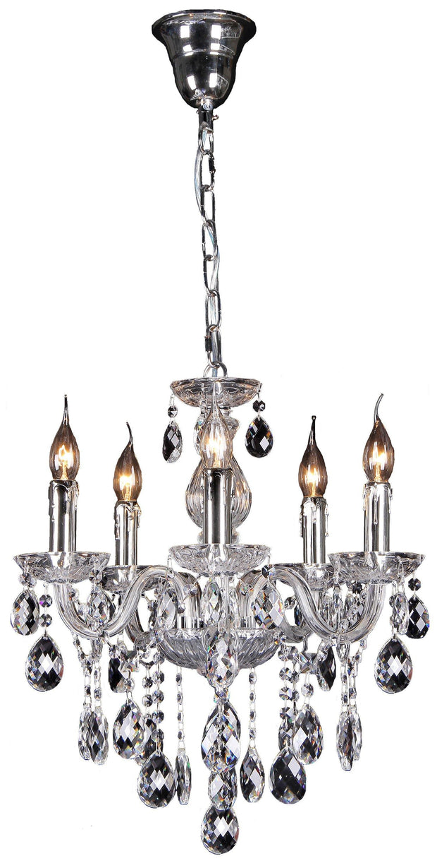 Venice 5 Light Crystal Chandelier - Lighting Superstore