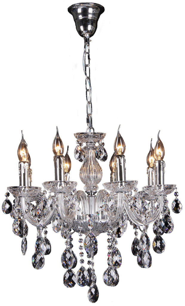 Venice 8 Light Crystal Chandelier - Lighting Superstore