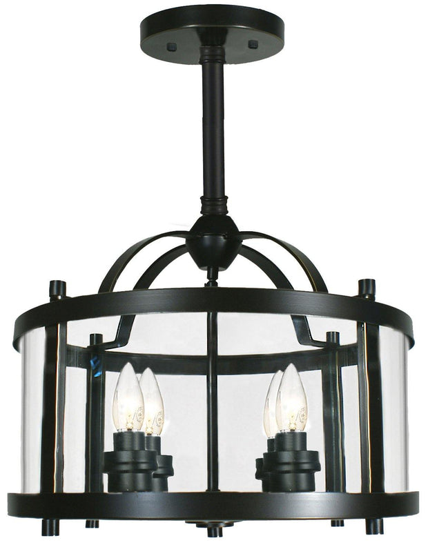 Vermont 4 Light Pendant Bronze - Short - Lighting Superstore