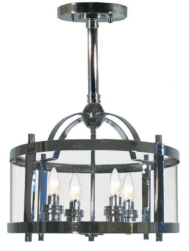 Vermont 4 Light Pendant Chrome - Short - Lighting Superstore