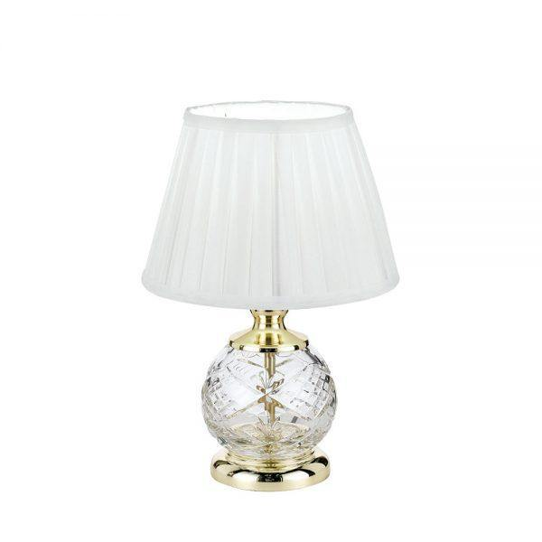 Vivian Table Lamp Gold and Glass - Lighting Superstore