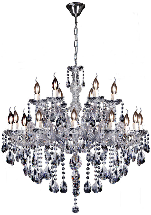 Zurich 18 Light Crystal Chandelier - Lighting Superstore