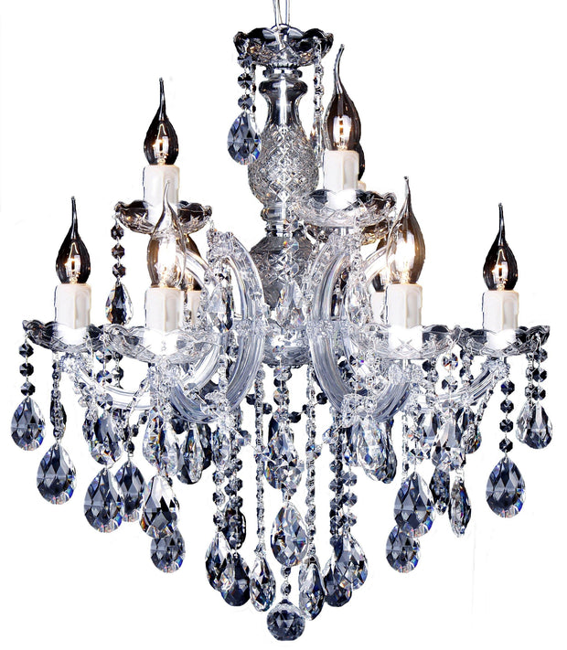 Zurich 9 Light Crystal Chandelier - Lighting Superstore