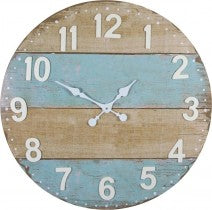 Weatherboards Metal Look Clock