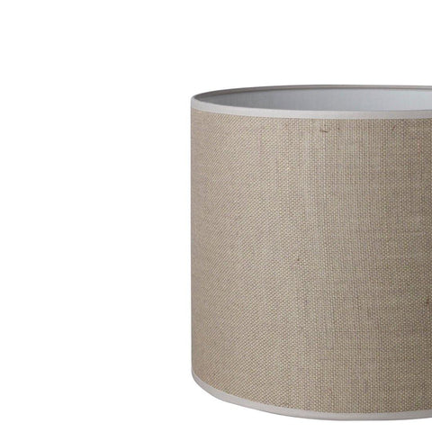 22.22.14 Cylinder Lamp Shade - C2 Ash Hessian - Lighting Superstore