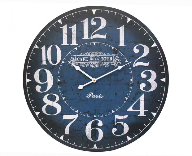 De La TourParis Navy Clock - Lighting Superstore
