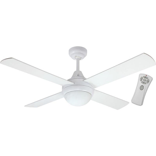 Glendale 48 Ceiling Fan White - B22 Light and Remote