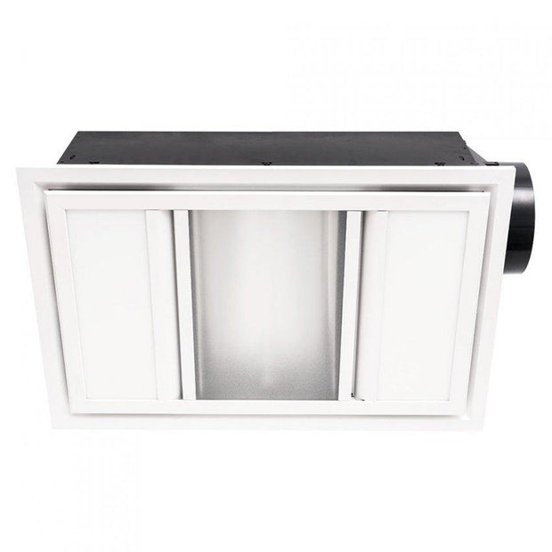 Domino 3-in-1 Exhaust Fan White - Lighting Superstore
